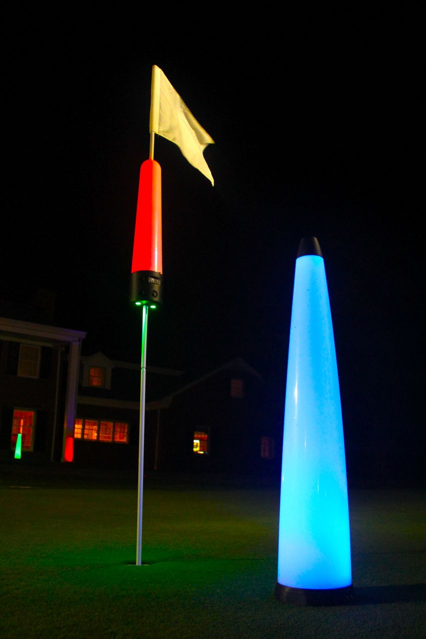 40″ UV GLOW BALL CHARGER – Tee Box Light 17
