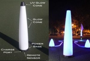 40″ UV GLOW BALL CHARGER – Tee Box Light 3