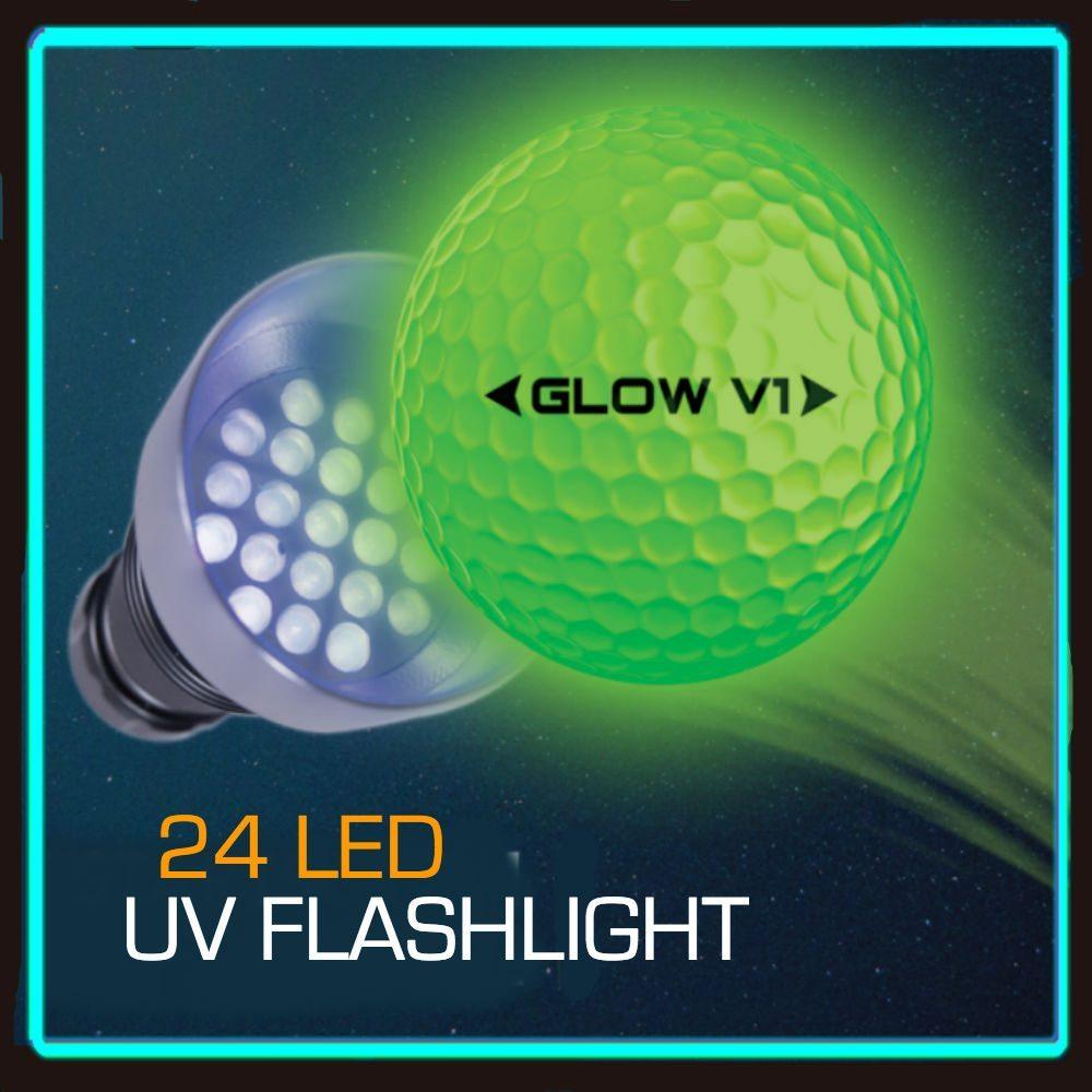 24 UV GLOW FLASHLIGHT to charge Night Golf Balls 1