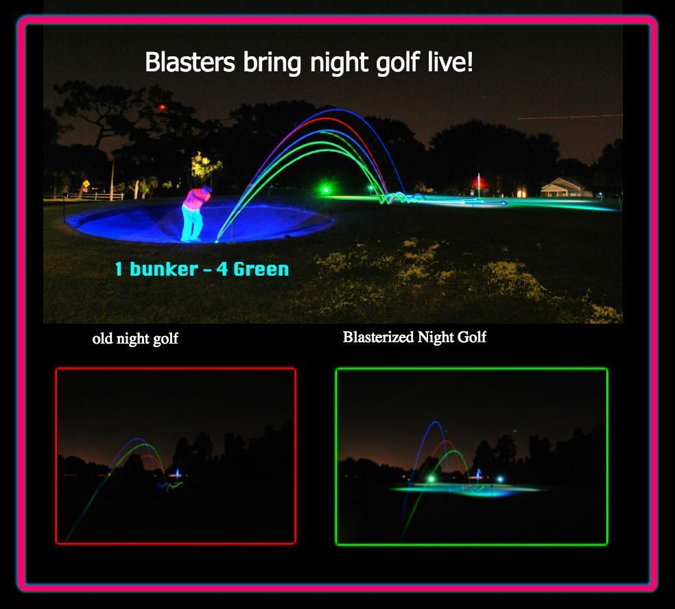 RECHARGER – GREEN BLASTER – Projection light for putting green and tee box 2