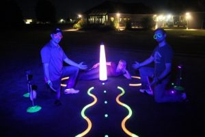 40″ UV GLOW BALL CHARGER – Tee Box Light 20