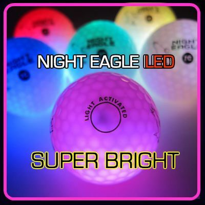 NIght Eagle CV LED Golf Ball - Red - pack of 6