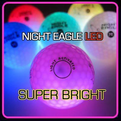 NIght Eagle CV LED Golf Ball - Pink - pack of 6