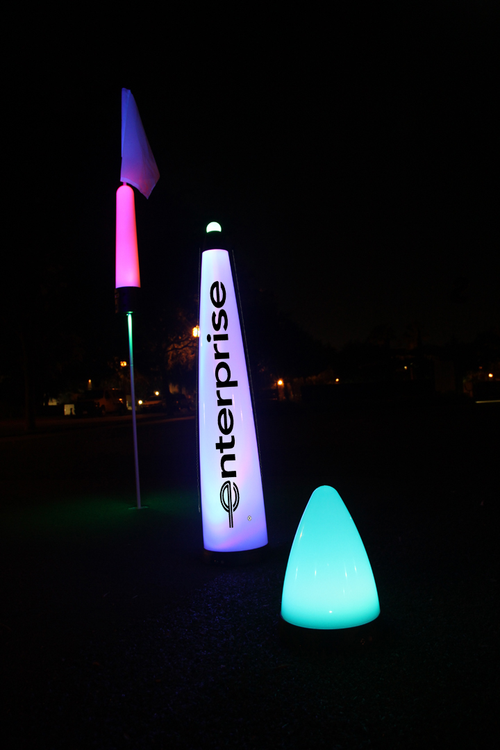 40″ UV GLOW BALL CHARGER – Tee Box Light 14